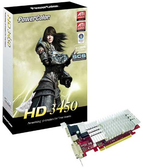 PowerColor'dan Radeon HD 3450 temelli yeni ekran kartı