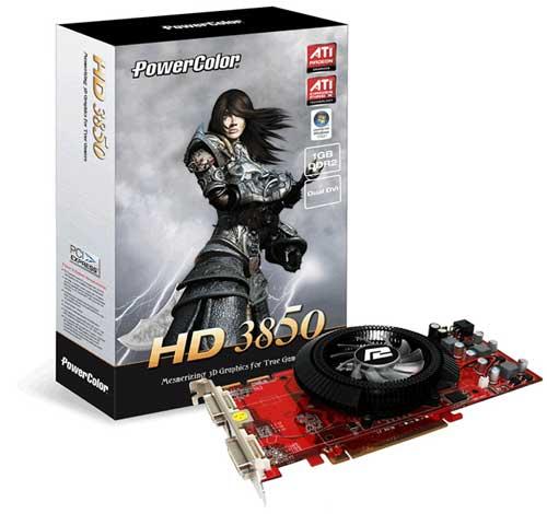 Powercolor'dan 1GB GDDR2 bellekli Radeon HD 3850