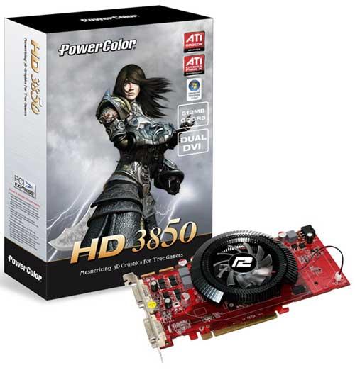 PowerColor'dan özel soğutuculu ve saat hızları arttırılmış Radeon HD 3850