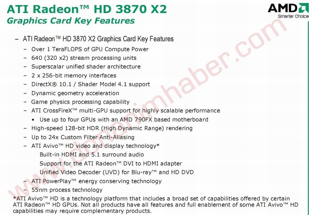 ATi R680 (HD 3870 X2) hakkında yeni ve resmi bilgiler