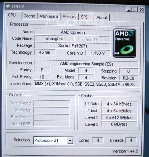 AMD'nin 45nm Shangai işlemcisi geliştirilmiş IPC ile geliyor