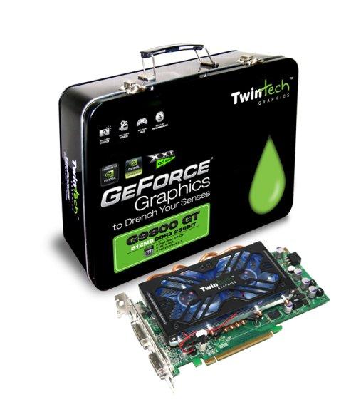 Twintech'in GeForce 9800GT modelleri kutulamasıyla dikkat çekiyor