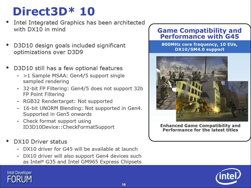 Intel G45 yonga seti ile gözünü DirectX 10'a dikti