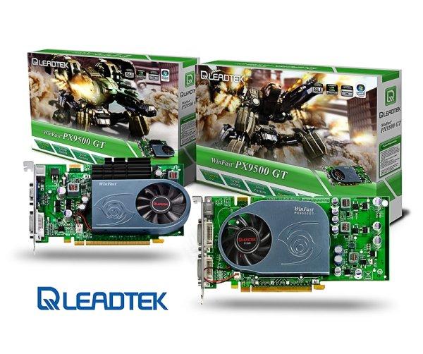 Leadtek GeForce 9500GT tabanlı iki yeni ekran kartı hazırladı