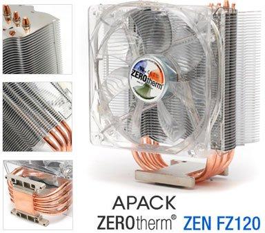 ZEROtherm'den yeni işlemci soğutucusu; Fz120