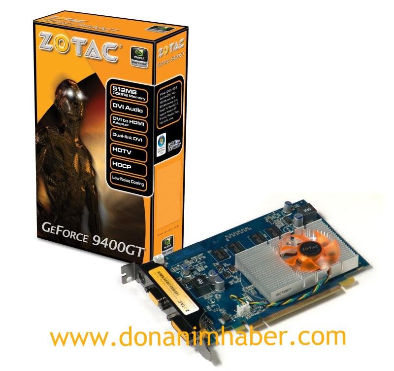 ZOTAC'ın GeForce 9400GT modeli hazır
