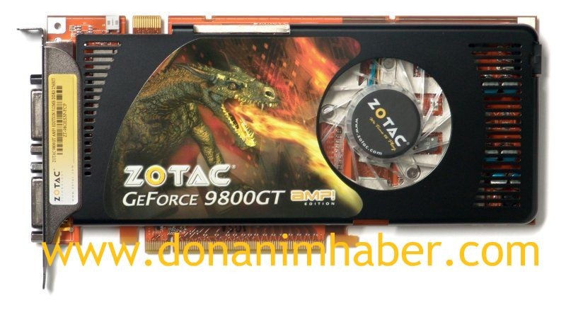 ZOTAC GeForce 9800GT AMP! Limited Edition modeini duyurdu